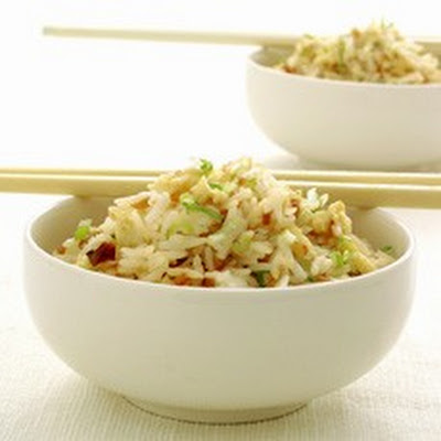 Stir-fried Rice with Egg and Spring Onions