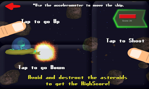 Alien vs. Asteroids - screenshot