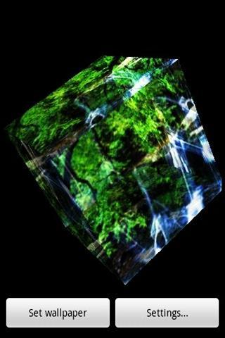 三維美麗的瀑布3