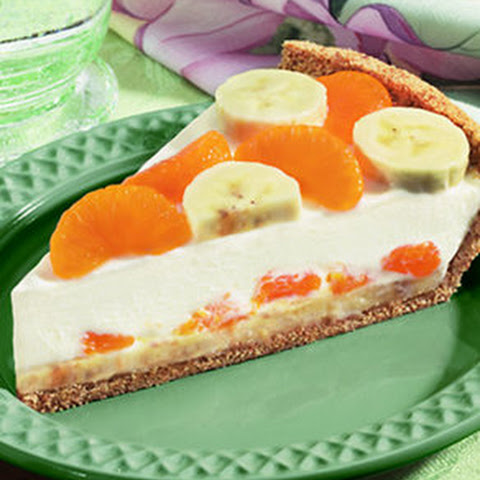 Banana Mandarin Cream Cheese Pie
