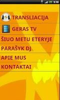 Screenshot of Geras FM