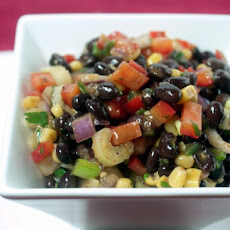 Black Bean, Corn And Red Pepper Salad