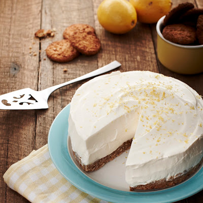 'No Bake' ANZAC Lemon Cheesecake