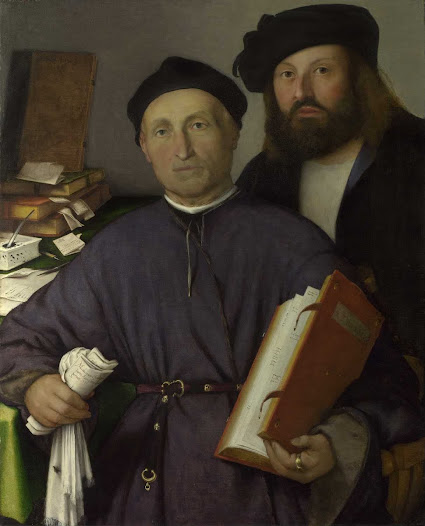 Lotto Lorenzo, Giovanni Agostino della Torre e figlio