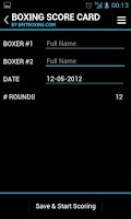 Screenshot of Boxing Score Card - Britboxing