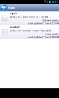 Screenshot of BackPage Classifieds Free