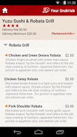 Screenshot of GrubHub Food Delivery/Takeout