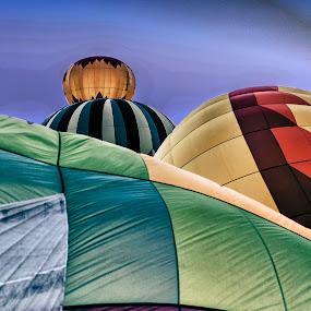 Balloon Prep by Kelvin Watkins - Transportation Other ( ballons, bright, colors, summer, morning )