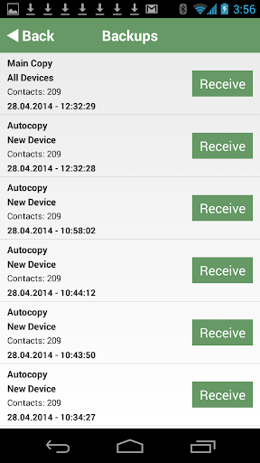Contaker – contacts backup - screenshot
