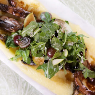 Grilled Balsamic Portobello Mushrooms with Soft Polenta