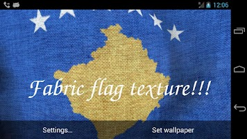 Screenshot of 3D Kosovo Flag Live Wallpaper