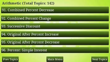 Screenshot of GRE Math Review