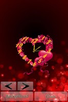Screenshot of Heart Clock LiveWallpaper Free