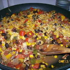 Fiesta Black Bean Bell Pepper Skillet
