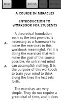 Screenshot of A Course in Miracles: Workbook