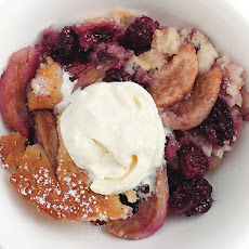 Blackberry-Pear Cobbler