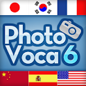 PhotoVoca- 6 Languages at Once icon