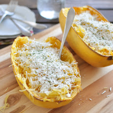 Mizithra and Browned Butter Spaghetti Squash