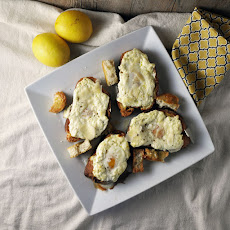 Egg-In-A-Hole Lemon Ricotta Toasts