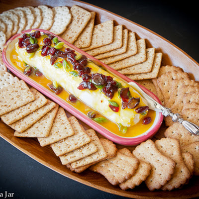 Spicy Mango and Cranberry Cream Cheese Appetizer