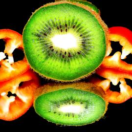 kiwi and peppers by LADOCKi Elvira - Food & Drink Fruits & Vegetables ( kiwi )