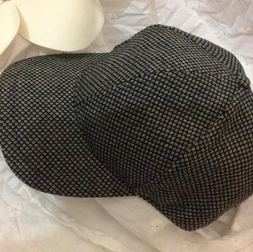 Black and white cap