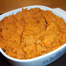 Garlic Coconut Mashed Yams (Sweet Potatoes)