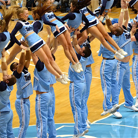 Tarheel Cheerleaders by Tyrell Heaton - People Musicians & Entertainers (  )