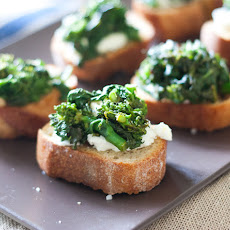 Goat Cheese Rapini Toasts