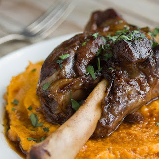 Braised Lamb Shanks & Root Vegetable Puree