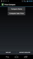 Screenshot of Price Compare