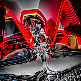 Ford Deluxe Hood Reflections by Ron Meyers - Transportation Automobiles