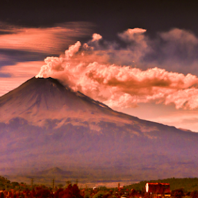 smoking volcano by Cristobal Garciaferro Rubio - Landscapes Travel