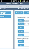 Screenshot of Smart Business Card (with NFC)