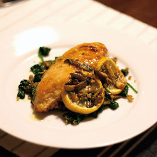 Sautéed Chicken with Olives, Capers, and Roasted Lemons