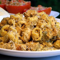 Creamy Pesto-Piccata Chicken With Tortellini