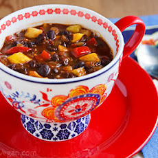 Black Bean-Pineapple Soup Stew Chili