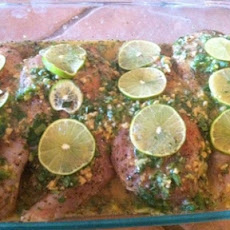 Lime, Jalapeno, Ginger and Garlic Roasted Chicken Breasts