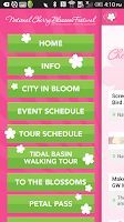 Screenshot of National Cherry Blossom Fest