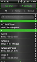 Screenshot of GO SMS THEME Green Metal