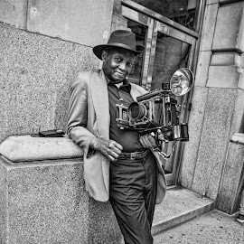 Photographer by Berrin Aydın - People Portraits of Men ( camera, street, new york, man,  )