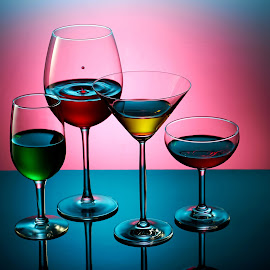 abstract colours lighting of drinks by Chong Chuan - Food & Drink Alcohol & Drinks ( colour, liquid, alcohol, drink, glass )