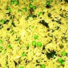 Basmati Rice With Cashews, Peas and Fresh Coriander