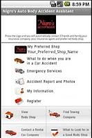 Screenshot of Nigro's Accident Assistant App