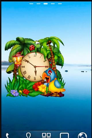 アニメーションオウムの目覚まし時計