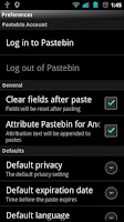 Screenshot of Pastebin for Android
