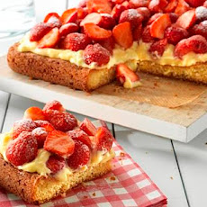Strawberry Custard Cake