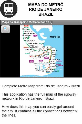 Metro Map Rio de Janeiro - BR