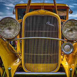 Yellow Cruiser by Ron Meyers - Transportation Automobiles ( 2013 tahlequah car show )