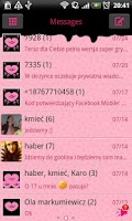 Screenshot of GO SMS Pro Pink&Black Theme